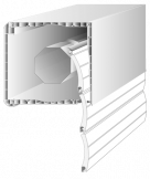 Cajón revestido PVC de 4 partes